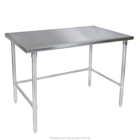 John Boos ST6-2448GBK Work Table 48 Long Stainless Steel Top (Magnified)