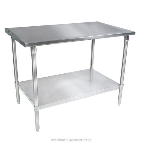 John Boos ST6-2472SSK Work Table 72 Long Stainless Steel Top