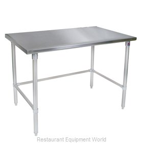 John Boos ST6-2484GBK Work Table 84 Long Stainless Steel Top