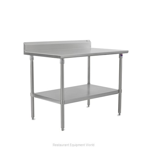 John Boos ST6R5-24120GSK Work Table 120 Long Stainless Steel Top