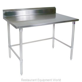 John Boos ST6R5-2460SBK Work Table 60 Long Stainless Steel Top
