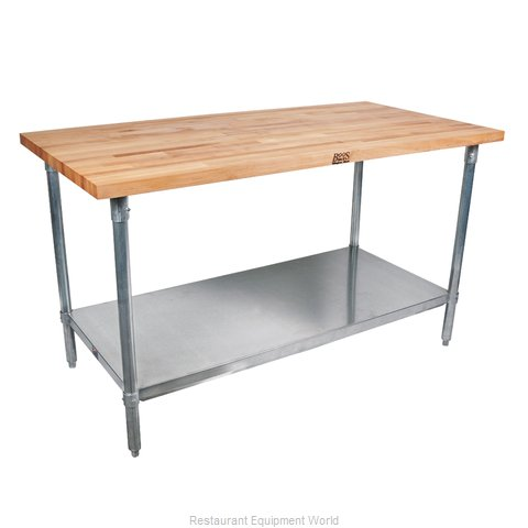 John Boos TNS11A Work Table Wood Top