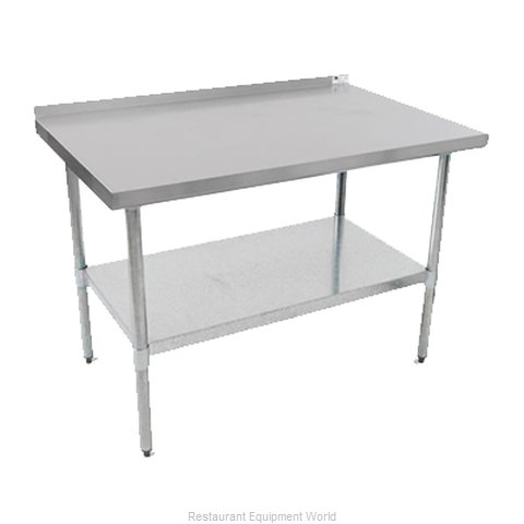 John Boos UFBLS7224 Work Table 72 Long Stainless Steel Top (Magnified)