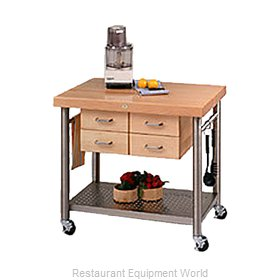 John Boos VEN3626 Thick Hard Maple Top Butcher Block Table