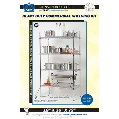 Johnson-Rose 11402 Shelving Unit, Wire