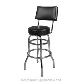 Just Chair C42030-BLK Bar Stool, Swivel, Indoor