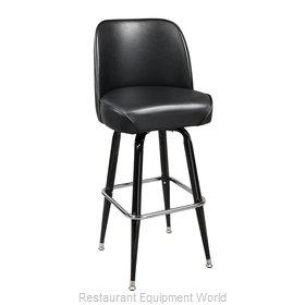 Just Chair C42130-BLK Bar Stool, Swivel, Indoor