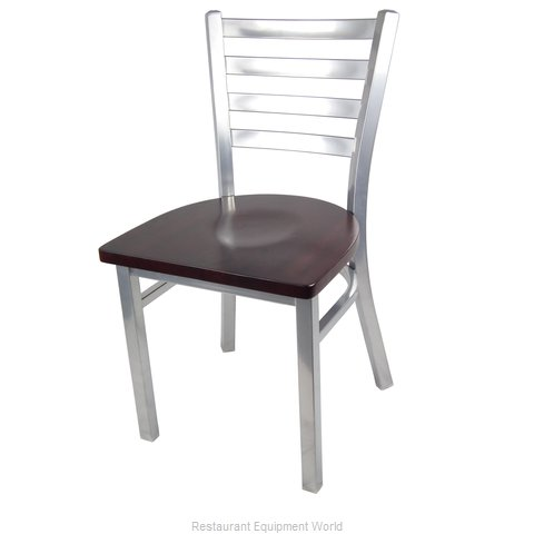 Just Chair M20118-SIL-SS Chair, Side, Indoor