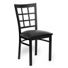 Just Chair M27118-BLK-PS BVS Chair, Side, Indoor