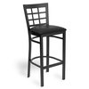 Just Chair M27130-BLK-PS-BVS Bar Stool, Indoor