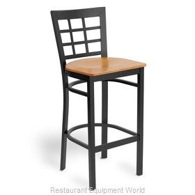 Just Chair M27130-BLK-VS Bar Stool, Indoor