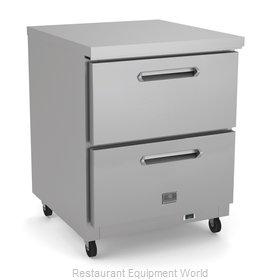Kelvinator KCHUC27.2DR Refrigerator, Undercounter, Reach-In
