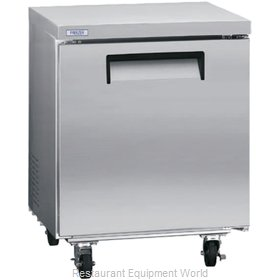 Kelvinator KCUC27F Reach-In Undercounter Freezer 1 section