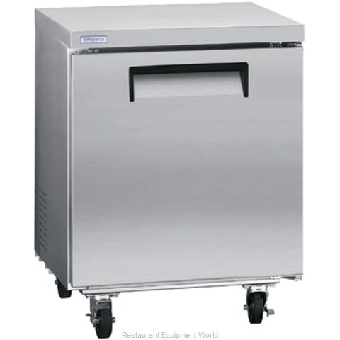 Kelvinator KCUC27R Reach-in Undercounter Refrigerator 1 section