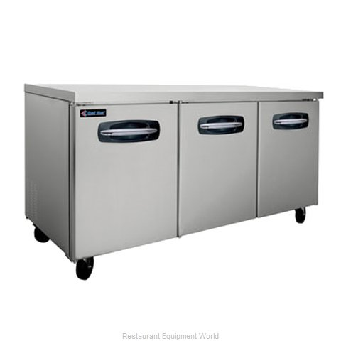 Kool Star KSUR72 Reach-in Undercounter Refrigerator 3 section