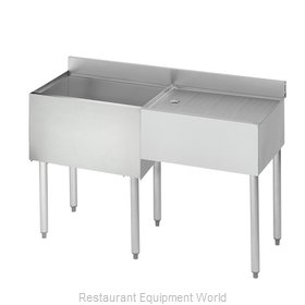 Krowne 18-D48L Underbar Ice Bin/Cocktail Station, Drainboard