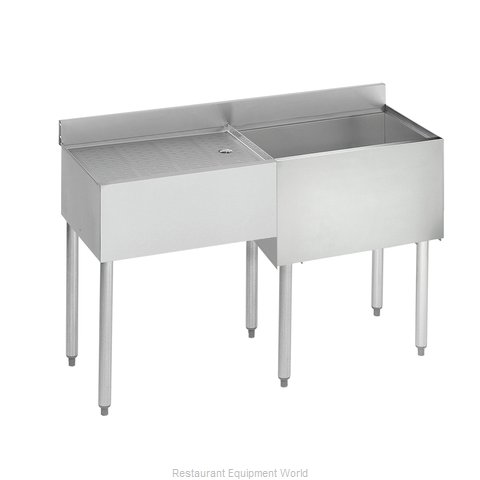 Krowne 18-D48R Underbar Ice Bin/Cocktail Station, Drainboard (Magnified)