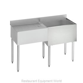 Krowne 18-D48R Underbar Ice Bin/Cocktail Station, Drainboard