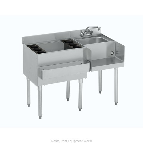Krowne 18-W42L Underbar Ice Bin/Cocktail Station, Blender Station