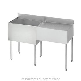 Krowne 21-D48L Underbar Ice Bin/Cocktail Station, Drainboard