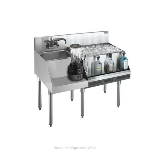 Krowne 21-W48R Underbar Ice Bin/Cocktail Station, Blender Station