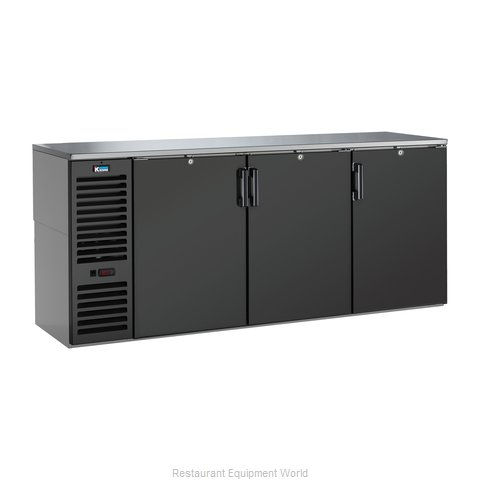 Krowne BS84L Back Bar Cabinet, Refrigerated