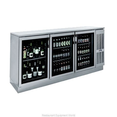 Krowne BS84R Back Bar Cabinet, Refrigerated
