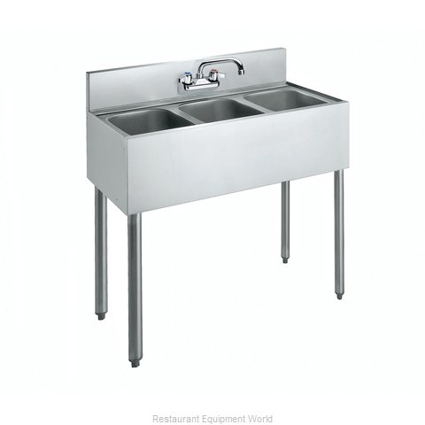 Krowne CS-1836 Sink 3 Three Compartment (Magnified)