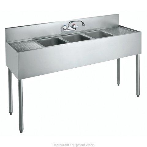 Krowne CS-1860 Sink, (3) Three Compartment