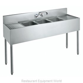 Krowne CS-1860 Sink, (3) Three Compartment