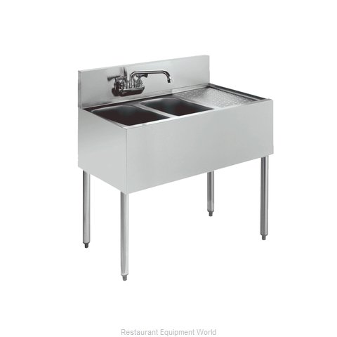 Krowne KR18-42L Royal Two Compartment Bar Sink