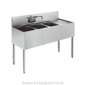 Krowne KR18-43L Royal Three Compartment Bar Sink
