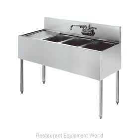 Krowne KR18-43R Royal Three Compartment Bar Sink