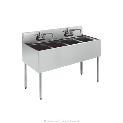 Krowne KR18-44C Royal Four Compartment Bar Sink