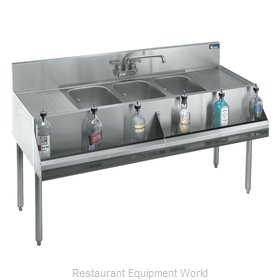 Krowne KR18-53C Royal Three Compartment Bar Sink