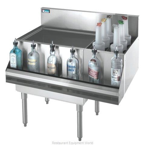 Krowne KR18-M36L Underbar Ice Bin/Cocktail Station, Bottle Well Bin