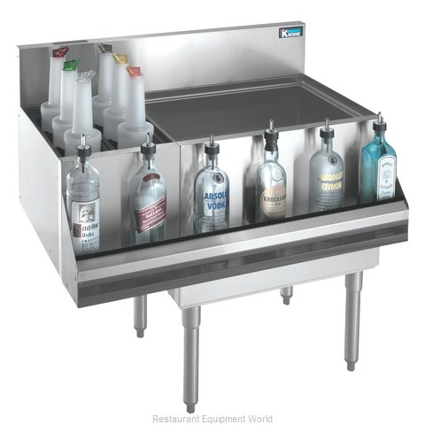 Krowne KR18-M36R-10 Underbar Ice Bin Cocktail Bottle Well Bin