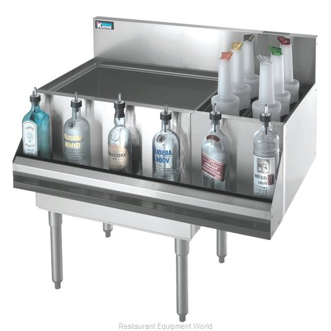 Krowne KR18-M42L-10 Underbar Ice Bin Cocktail Bottle Well Bin