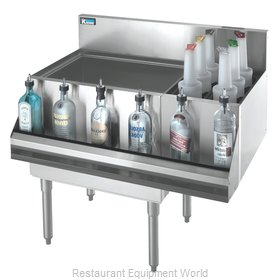 Krowne KR18-M42L-10 Underbar Ice Bin/Cocktail Station, Bottle Well Bin