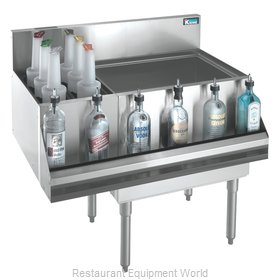 Krowne KR18-M42R-10 Underbar Ice Bin Cocktail Bottle Well Bin