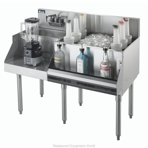 Krowne KR18-W48R-10 Underbar Ice Bin Cocktail Blender Station