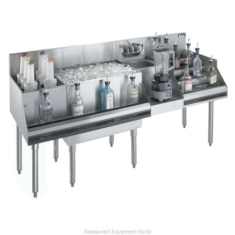 Krowne KR18-W60E-10 Underbar Ice Bin/Cocktail Station, Blender Station