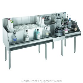 Krowne KR18-W66D-10 Underbar Ice Bin/Cocktail Station, Blender Station