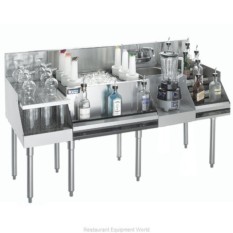 Krowne KR18-W72C-10 Underbar Ice Bin Cocktail Blender Station