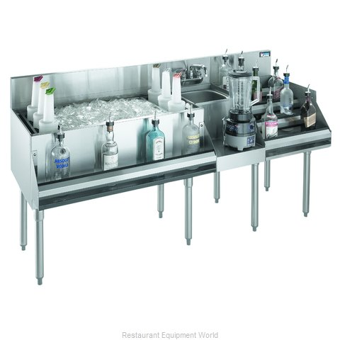 Krowne KR18-W72D-10 Underbar Ice Bin Cocktail Blender Station