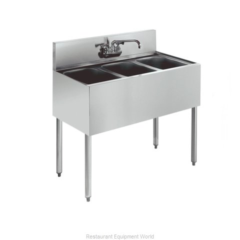 Krowne KR21-33C Royal Three Compartment Bar Sink (Magnified)