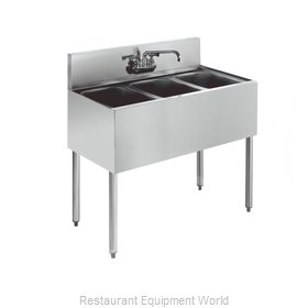 Krowne KR21-33C Royal Three Compartment Bar Sink