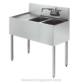 Krowne KR21-42R Royal Two Compartment Bar Sink