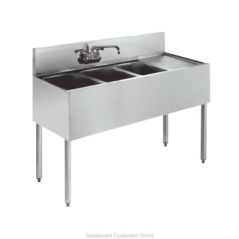Krowne KR21-43L Royal Three Compartment Bar Sink (Magnified)