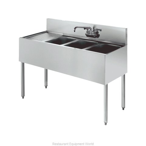 Krowne KR21-43R Royal Three Compartment Bar Sink (Magnified)